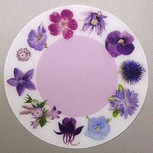 PP製 コースター (紫の花)