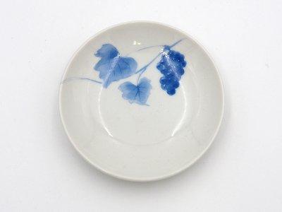 小皿 (青いブドウ)