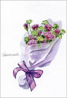 ポストカード「小さなバラの花束」
