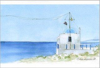 ポストカード「海と礼拝堂」