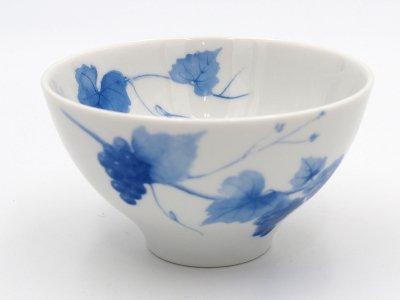 ごはん茶碗 (青いブドウ)