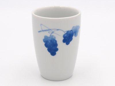 湯のみ(二つの青いブドウ)