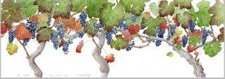 版画 「収穫の日のブドウ」