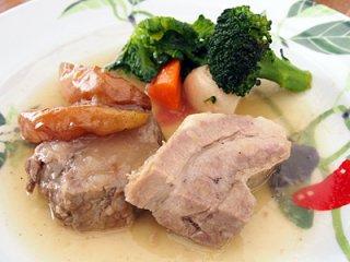 豚肉のシードル煮