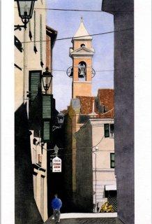ポストカード「鐘楼の見える裏通り」