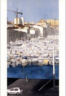 ポストカード「マルセイユ旧港の朝」