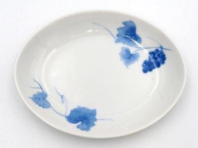楕円皿 (ブドウ1つ)