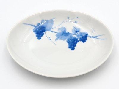 楕円皿 (ブドウ3つ)