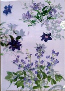 A4 クリアファイル(紫の花たち)