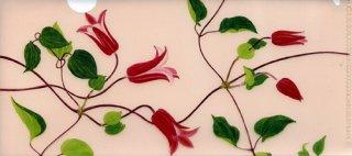 チケットファイル(赤い花のクレマチス)