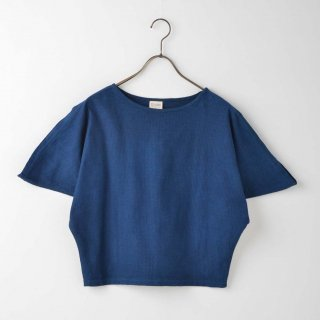 <img class='new_mark_img1' src='//img.shop-pro.jp/img/new/icons6.gif' style='border:none;display:inline;margin:0px;padding:0px;width:auto;' />【藍染Tシャツ】AiZOME(コットンシアサッカー)変形プルオーバー濃紺色