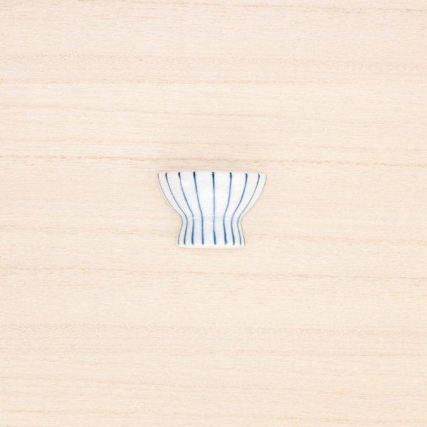 砥部焼・すこし屋 − はし置き 茶碗 青十草