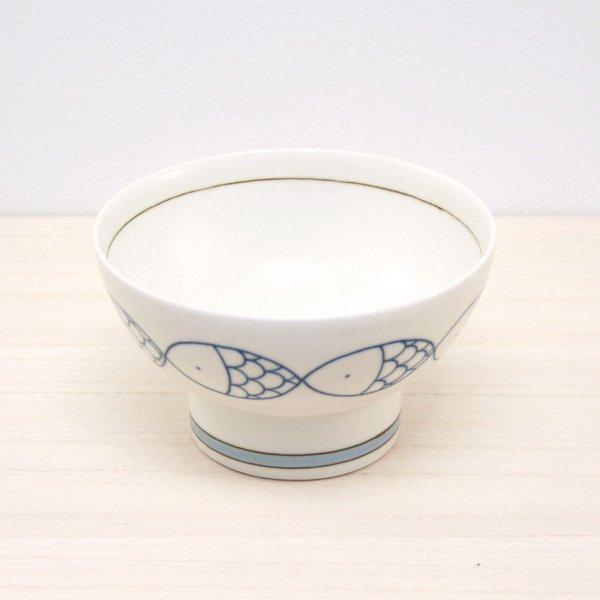 砥部焼・すこし屋 − 茶碗 大 さかな