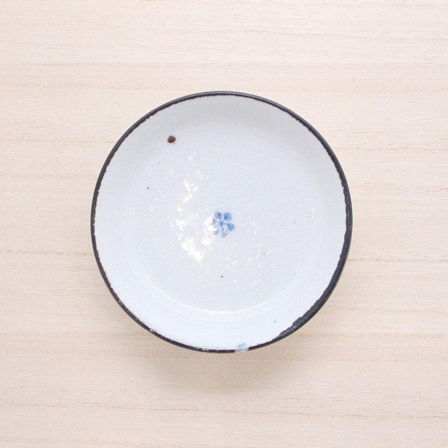 砥部焼・陶彩窯 − 染付古砥部文 小皿 小梅文