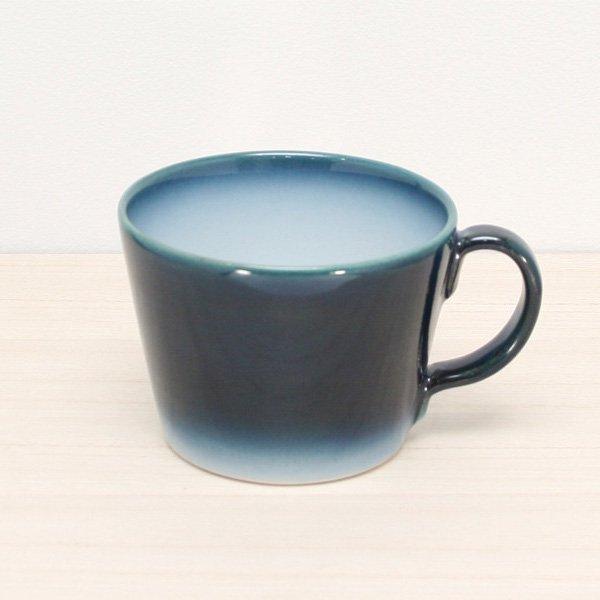 砥部焼・ヨシュア工房 − スープマグ ヨシュアブルー