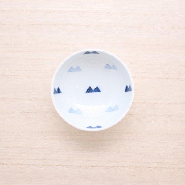 砥部焼・イロリ工房 − 豆皿 マウンテン