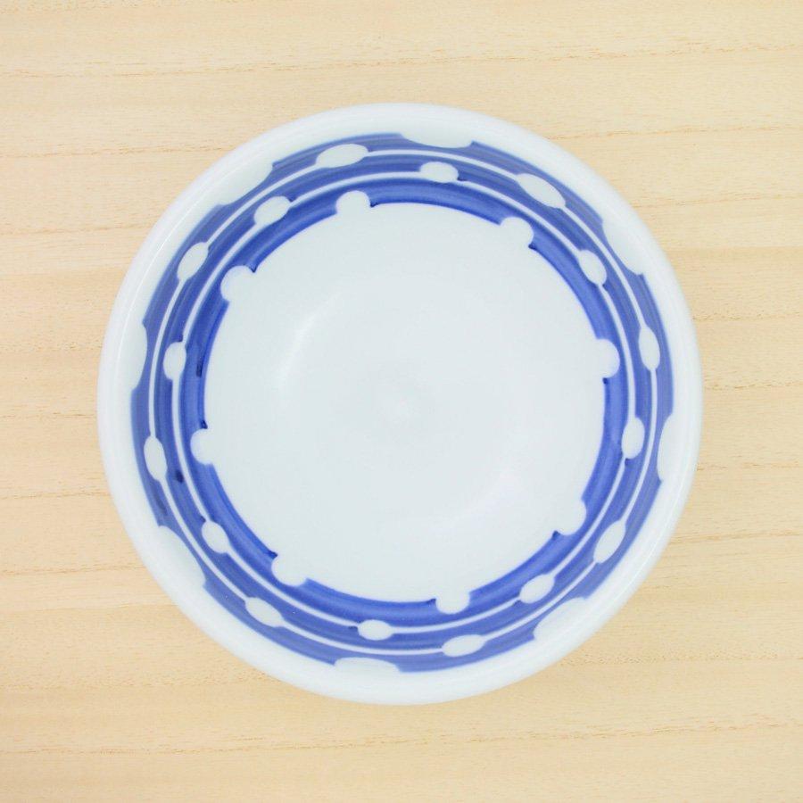 砥部焼・陶房 遊 − 5.5寸玉縁鉢 白玉