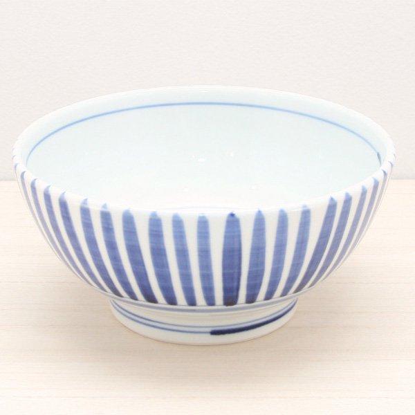 砥部焼・千山窯 − うどん鉢(中) 十草