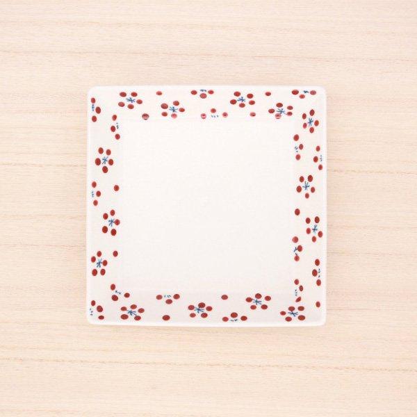 砥部焼・すこし屋 − しかく皿 大 赤小紋
