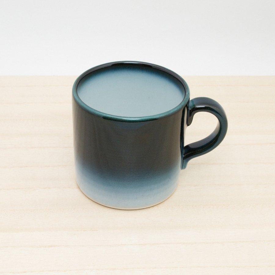 砥部焼・ヨシュア工房 − マグカップ(小) ヨシュアブルー