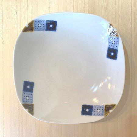 砥部焼・イロリ工房 − 四角皿 オビシカク