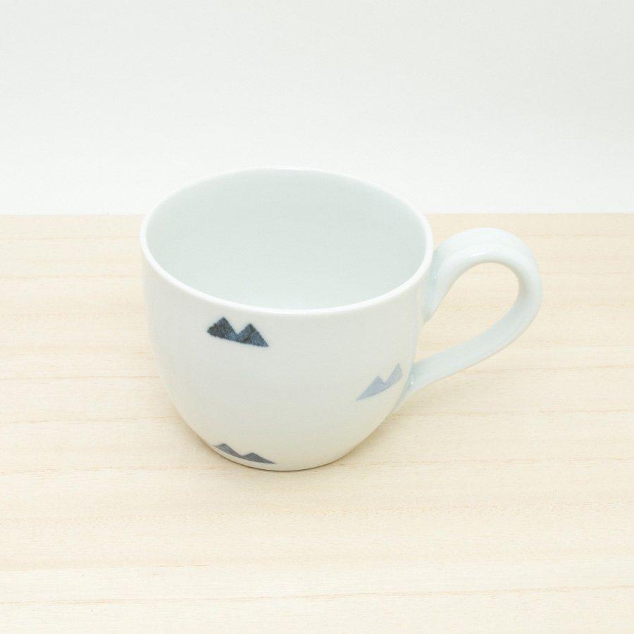 砥部焼・イロリ工房 − 丸型カップ マウンテン