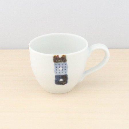 砥部焼・イロリ工房 − 丸型カップ オビシカク