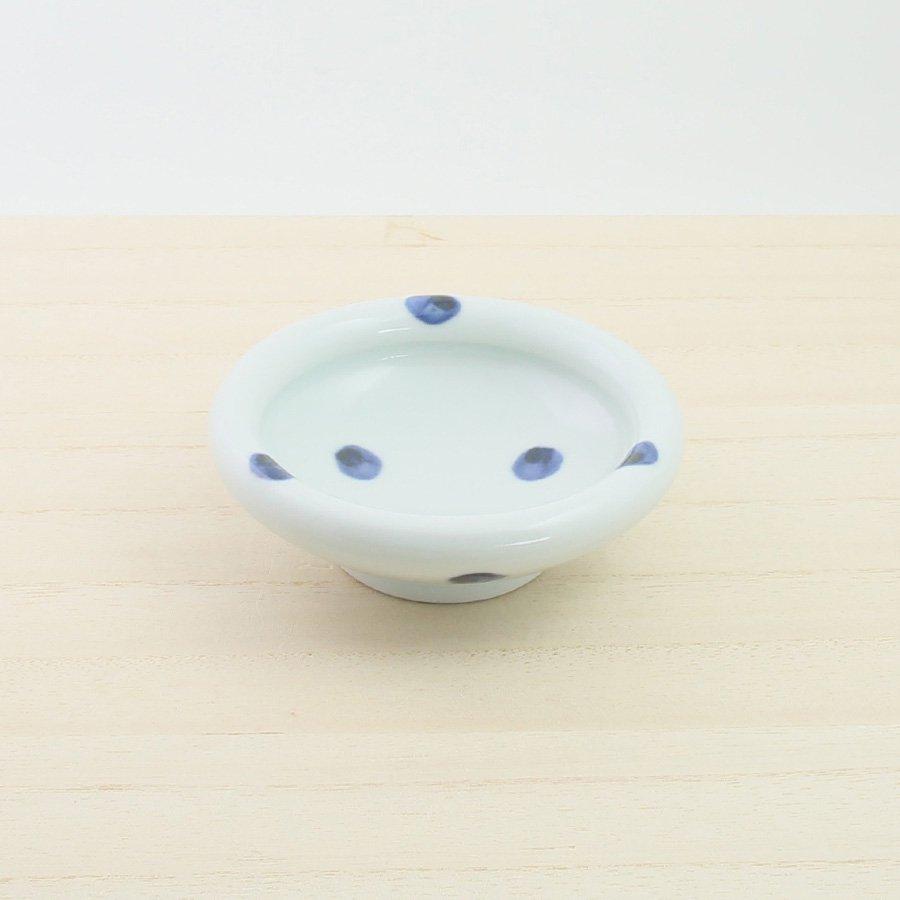 砥部焼・梅乃瀬窯 − 玉点鉢 3寸