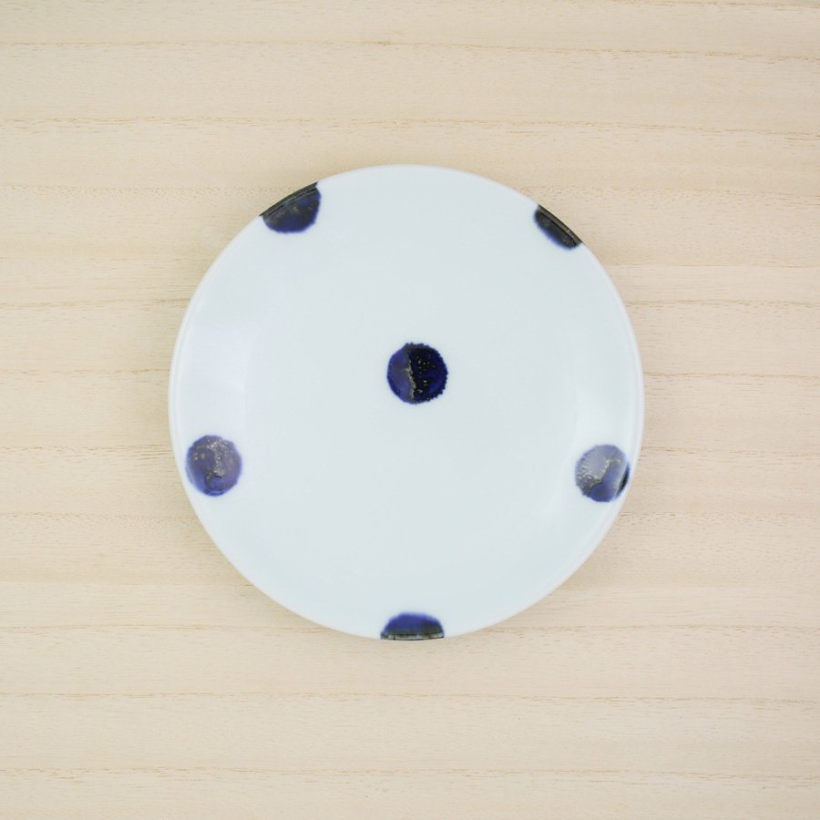 砥部焼・雲石窯 − 5寸皿 太丸