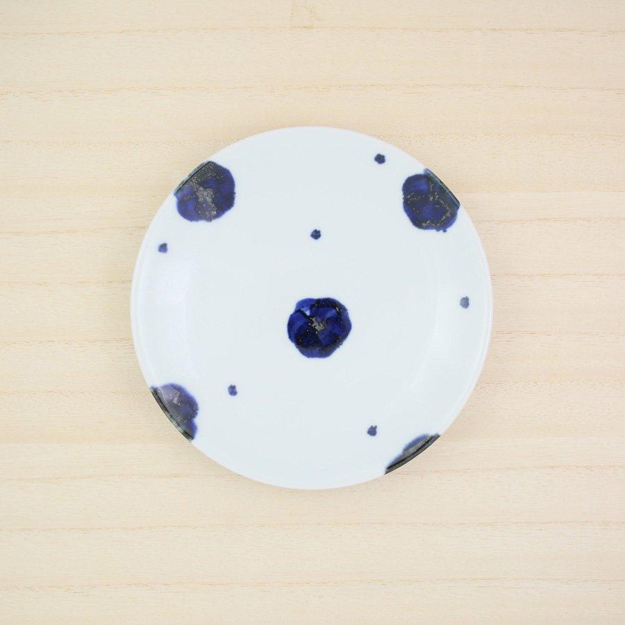 砥部焼・雲石窯 − 5寸皿 梅文