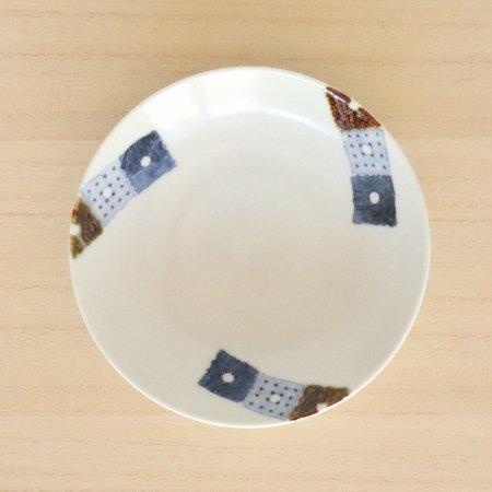 砥部焼・イロリ工房 − 5寸皿 オビシカク