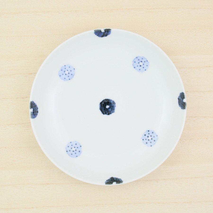 砥部焼・イロリ工房 − 5寸皿 ドーナツ