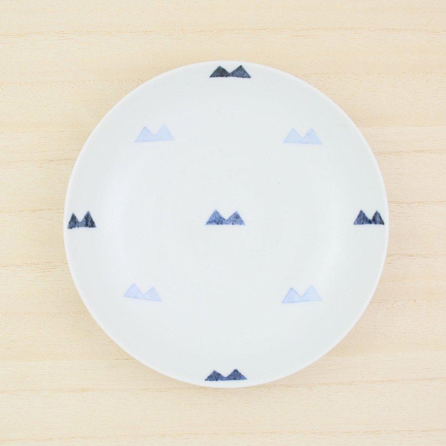 砥部焼・イロリ工房 − 5寸皿 マウンテン