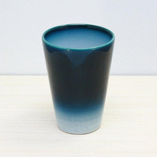 砥部焼・ヨシュア工房 − フリーカップ中 ヨシュアブルー