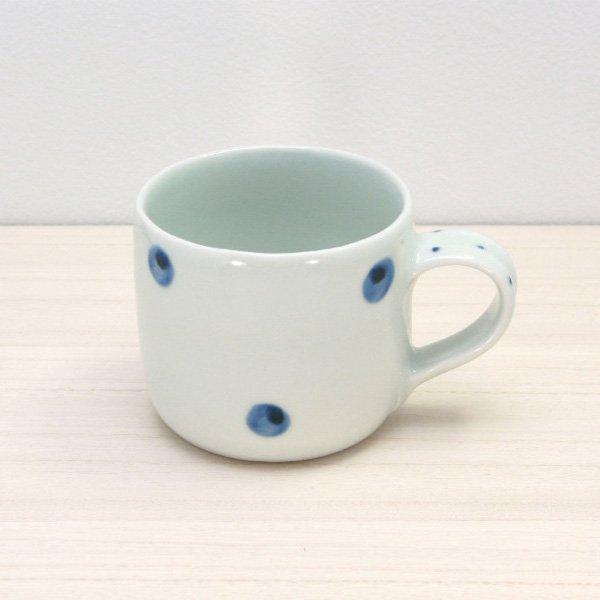 砥部焼・梅乃瀬窯 − マグカップ 点文