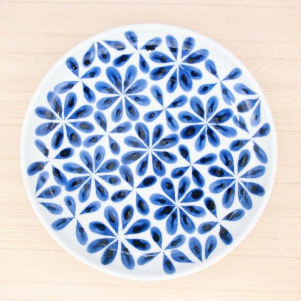 砥部焼・陶房 遊 − 7寸皿 花市松