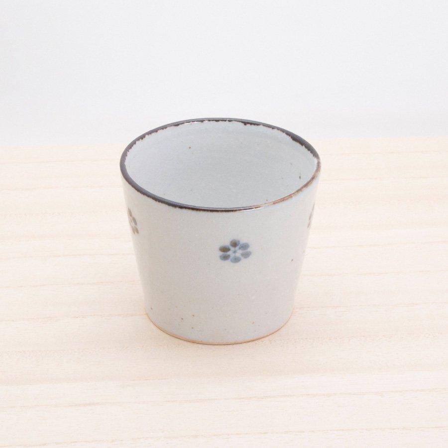 砥部焼・陶彩窯 − 染付古砥部文 そば猪口 小梅文