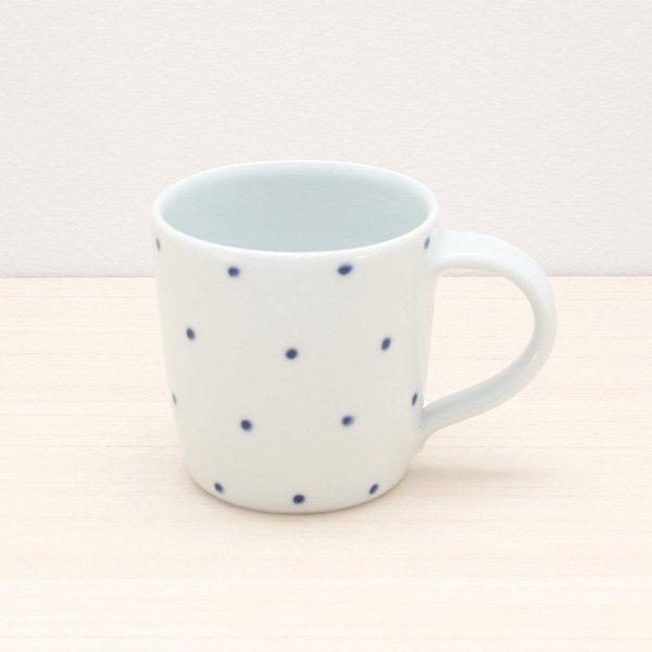 砥部焼・五松園窯 − マグカップ 水玉