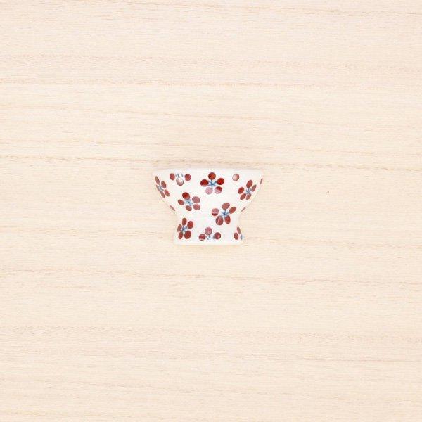 砥部焼・すこし屋 − はし置き 茶碗 赤小紋