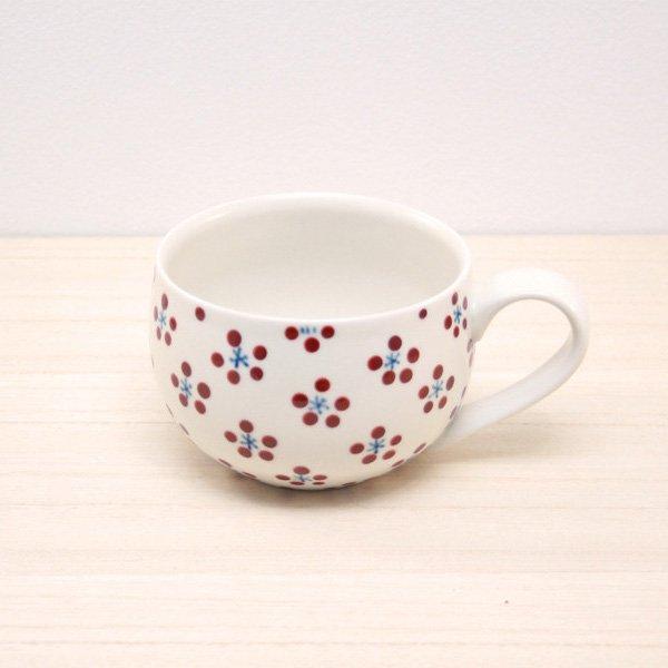 砥部焼・すこし屋 − 丸マグカップ 赤小紋