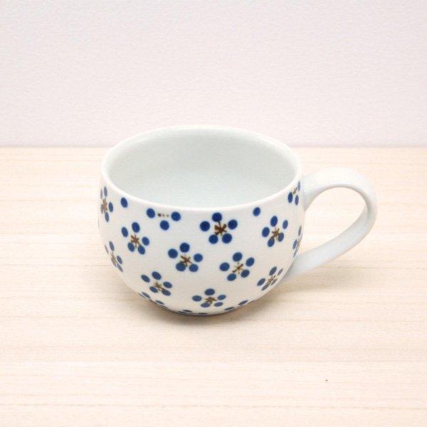砥部焼・すこし屋 − 丸マグカップ 青小紋
