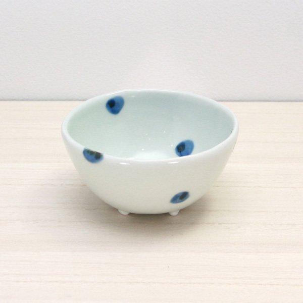 砥部焼・梅乃瀬窯 − 足付コロコロ鉢(小) 点文