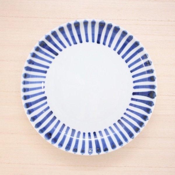 砥部焼・千山窯 − 6.5寸深皿 十草