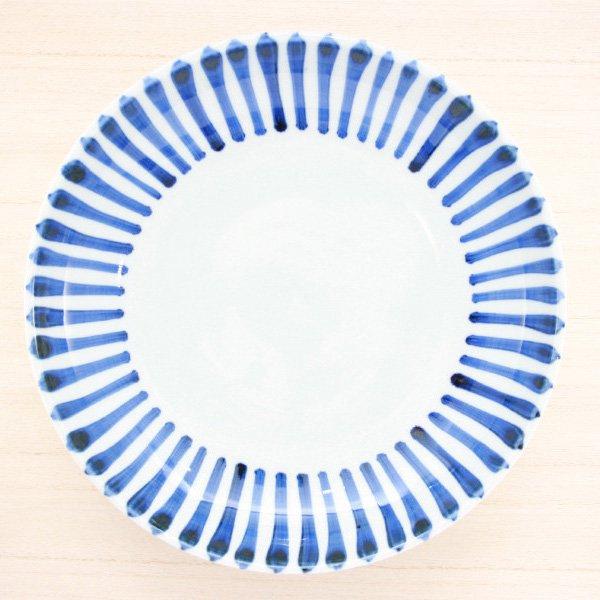 砥部焼・千山窯 − 7.5寸深皿 十草
