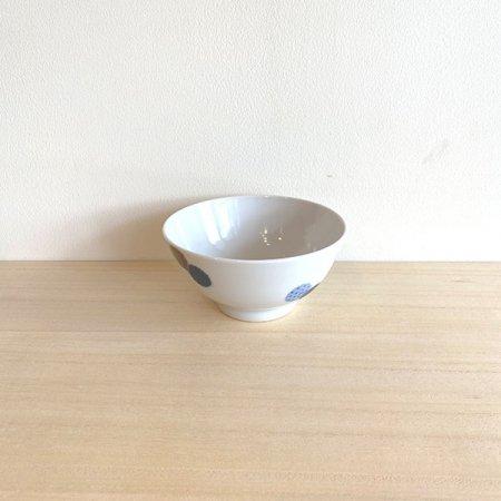 砥部焼・イロリ工房 − 茶碗 ニコマル