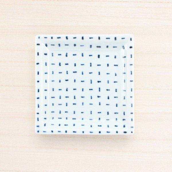 砥部焼・雲石窯 − 正方皿 タテヨコ