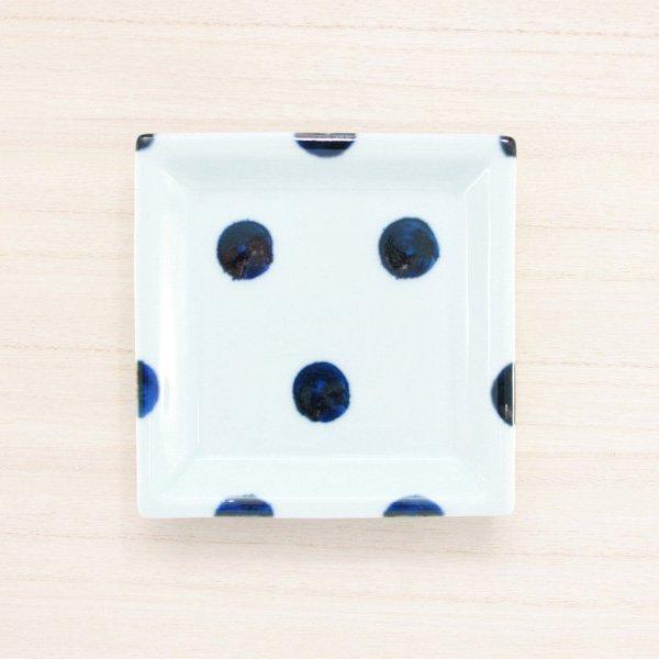 砥部焼・雲石窯 − 正方皿 太丸