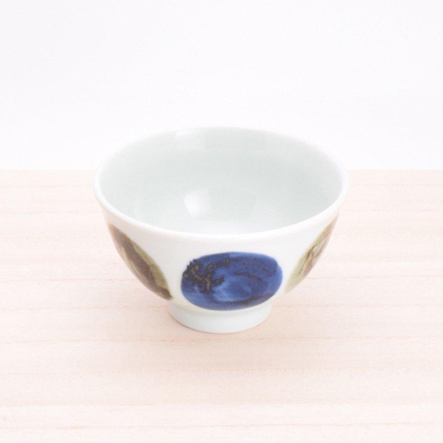 砥部焼・五松園窯 − 口反り茶碗 大鉄玉(小)