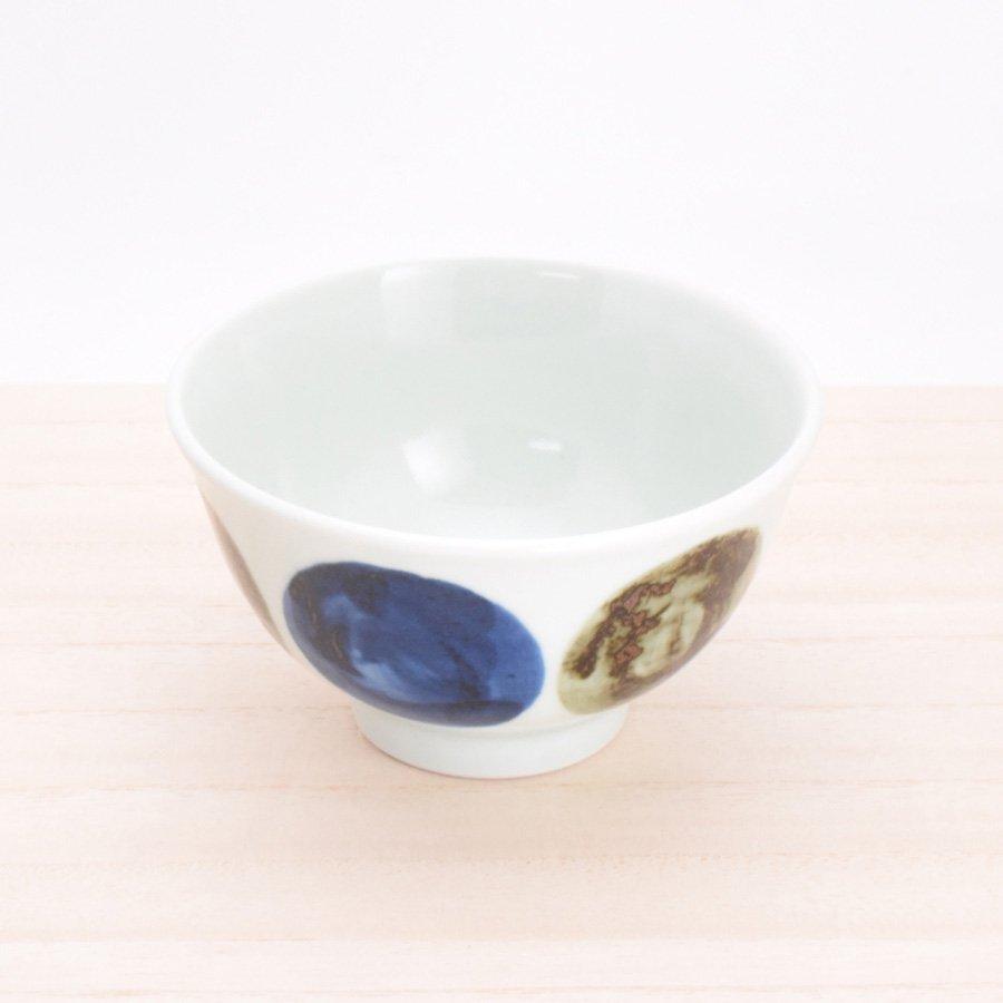 砥部焼・五松園窯 − 口反り茶碗 大鉄玉(大)