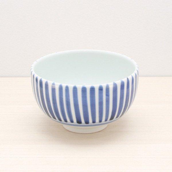砥部焼・千山窯 − 丸碗 十草